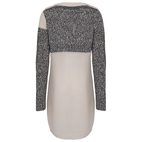 Buy French Connection Block Party Knitted Dress, Black/White Online at johnlewis.com