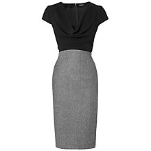 Buy Jaeger Cowl Neck Dress, Black Online at johnlewis.com