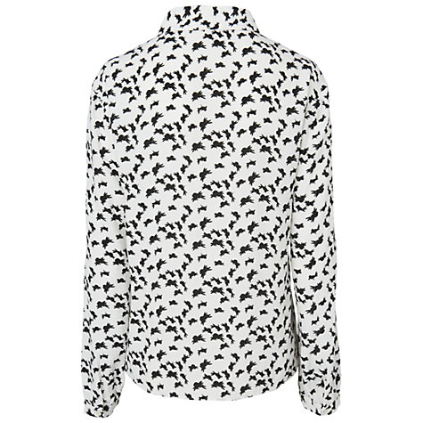 Buy Boutique by Jaeger Bird Print Blouse, Ivory Online at johnlewis.com