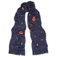Buy Whistles Heart Scarf, Multicolour Online at johnlewis.com