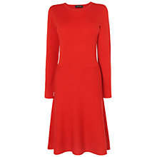 Buy Jaeger Flared Dress, Bright Red Online at johnlewis.com