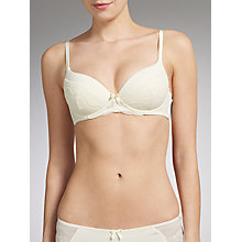 Buy John Lewis Sophia T-Shirt Bra, Cream Online at johnlewis.com