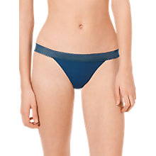 Buy Calvin Klein Icon Underwear Lace Trim Thong, Alpine Fir Online at johnlewis.com