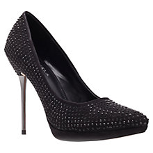 Buy Carvela Gamine Studded Stiletto Heel Court Shoes, Black Online at johnlewis.com