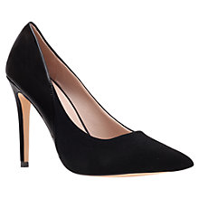 Buy Carvela Ash Suede Mix Pointed Toe Stiletto Heel Court Shoes, Black Online at johnlewis.com