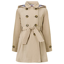 Buy John Lewis Girl Fashion Trench Coat, Stone Online at johnlewis.com