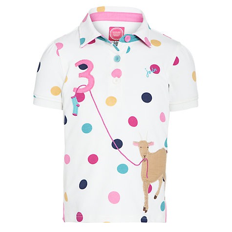Buy Little Joule Moxie Goat Polo Shirt, Cream Online at johnlewis.com