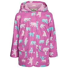 Buy Hatley Girls' Bear Print Raincoat, Pink Online at johnlewis.com