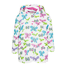 Buy Hatley Girls' Ditsy Butterfly Raincoat, White Online at johnlewis.com
