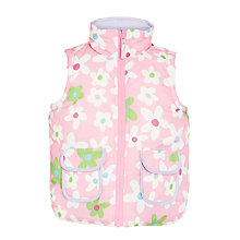 Buy Hatley Girls' Reversible Flower Gilet, Pink Online at johnlewis.com