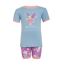 Buy Hatley Girls' Fairy Cat Shortie Pyjamas, Blue/Purple Online at johnlewis.com