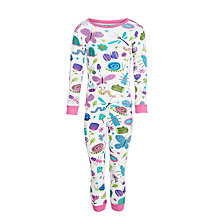 Buy Hatley Bugs Print Girls' Pyjamas, White/Multi Online at johnlewis.com
