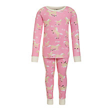 Buy Hatley Girls' Horseplay Pyjamas, Pink Online at johnlewis.com