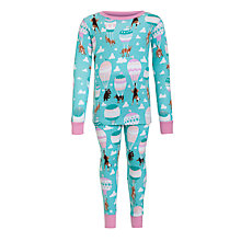 Buy Hatley Girls' Balloon Dogs Pyjamas, Blue Online at johnlewis.com