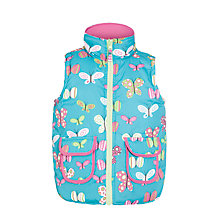 Buy Hatley Girls' Reversible Butterfly Gilet, Aqua/Pink Online at johnlewis.com