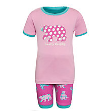 Buy Hatley Girls' Bearly Sleeping Shortie Pyjamas, Pink Online at johnlewis.com