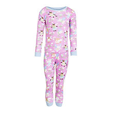 Buy Hatley Fairy Cat Girls' Pyjamas, Pink Online at johnlewis.com