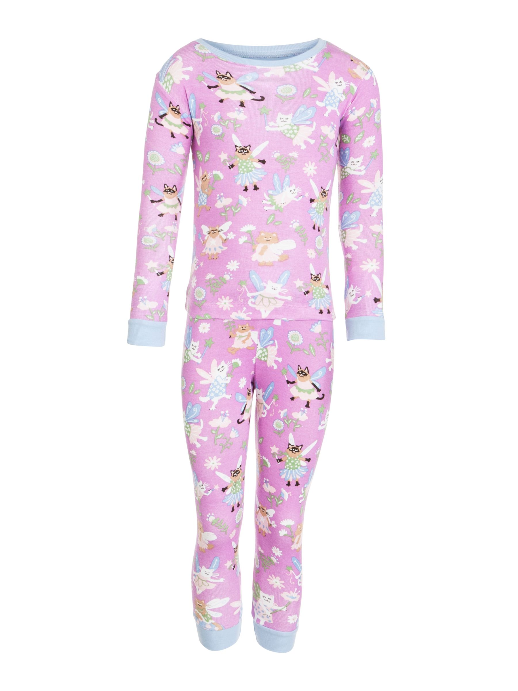 Hatley Fairy Cat Girls' Pyjamas, Pink