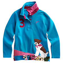 Buy Little Joule Maisie Long Sleeve Polo Top, Blue Online at johnlewis.com