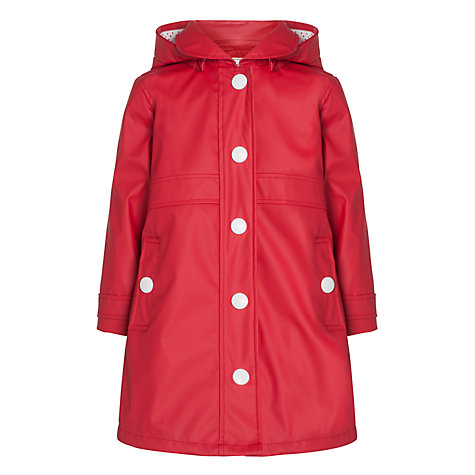 Buy Hatley Girls' Splash Rain Jacket, Red Online at johnlewis.com