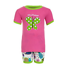 Buy Hatley Girls' Bug and Butterflies Shortie Pyjamas, Pink Online at johnlewis.com