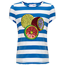 Buy John Lewis Girl Graphic Fruit T-Shirt, Light Cobalt Online at johnlewis.com