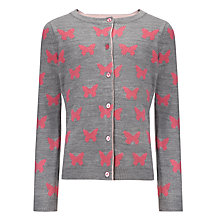 Buy John Lewis Girl Butterfly Cardigan, Grey Online at johnlewis.com
