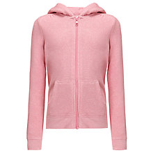 Buy John Lewis Girl Zip Through Hoodie, Marl Pink Online at johnlewis.com