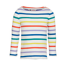 Buy John Lewis Girl Basic Long Sleeve Multistripe T-shirt, Multi Online at johnlewis.com