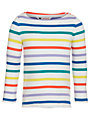 John Lewis Girl Basic Long Sleeve Multistripe T-shirt, Multi