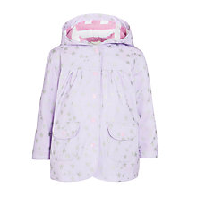 Buy Hatley Girls' Scatter Star Raincoat, Lilac Online at johnlewis.com