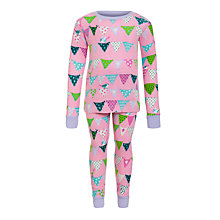 Buy Hatley Girls' Bunting Bird Pyjamas, Pink Online at johnlewis.com