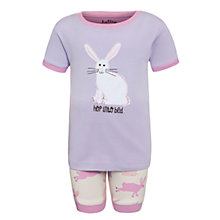 Buy Hatley Girls' Hop Into Bed Bunny Shortie Pyjamas, Purple/Pink Online at johnlewis.com