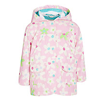 Buy Hatley Girls' Fresh Flower Raincoat, Pink Online at johnlewis.com