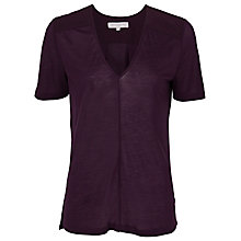 Buy French Connection Classic Winter Plain T-Shirt, Cherry Tonic Online at johnlewis.com