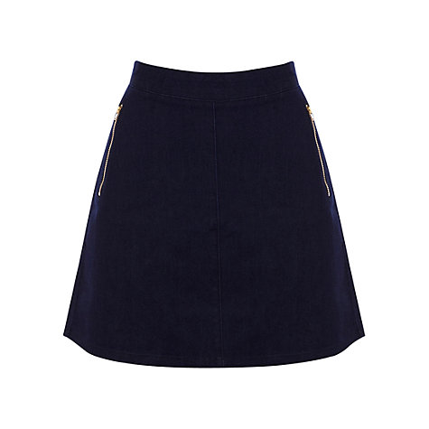 Buy Oasis Denim Florence Skirt, Blue Online at johnlewis.com