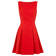 Buy Oasis Daisy Skater Dress, Red Online at johnlewis.com