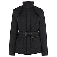 Buy Oasis Storm Quilted Jacket, Black Online at johnlewis.com