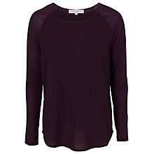 Buy French Connection Classic Winter Polly Plains Top, Cherry Tonic Online at johnlewis.com