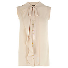 Buy Oasis Pintuck Frill Blouse, Off White Online at johnlewis.com