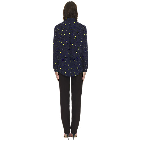Buy Whistles Katlin Heart Blouse, Blue/Multi Online at johnlewis.com