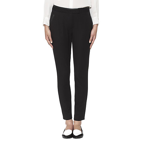 Buy Whistles Nicolette Trousers, Black Online at johnlewis.com