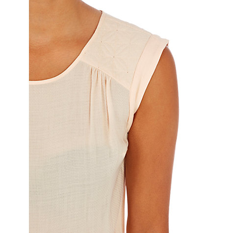 Buy Warehouse Quilted Shoulder Top, Light Pink Online at johnlewis.com