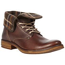 Buy Dune Corduroy Lined Leather Boots, Tan Online at johnlewis.com