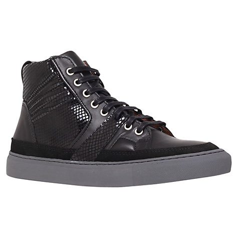 Buy KG by Kurt Geiger Nitro Leather Hi-Top Trainers Online at johnlewis.com