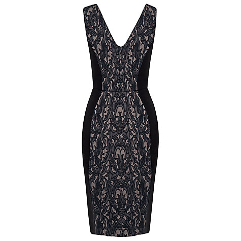 Buy French Connection Lily Jacquard Dress, Multi Online at johnlewis.com