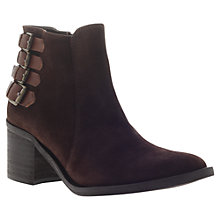 Buy Carvela Spam Suede Ankle Boots, Dark Brown Online at johnlewis.com