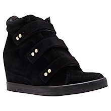 Buy Carvela Lire Suede Concealed Wedge Heel Trainers Online at johnlewis.com