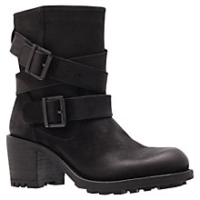 Buy Carvela Shower Biker Boots, Black Online at johnlewis.com