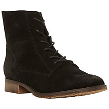 Buy Steve Madden Rawling Suede Ankle Boots, Black Online at johnlewis.com
